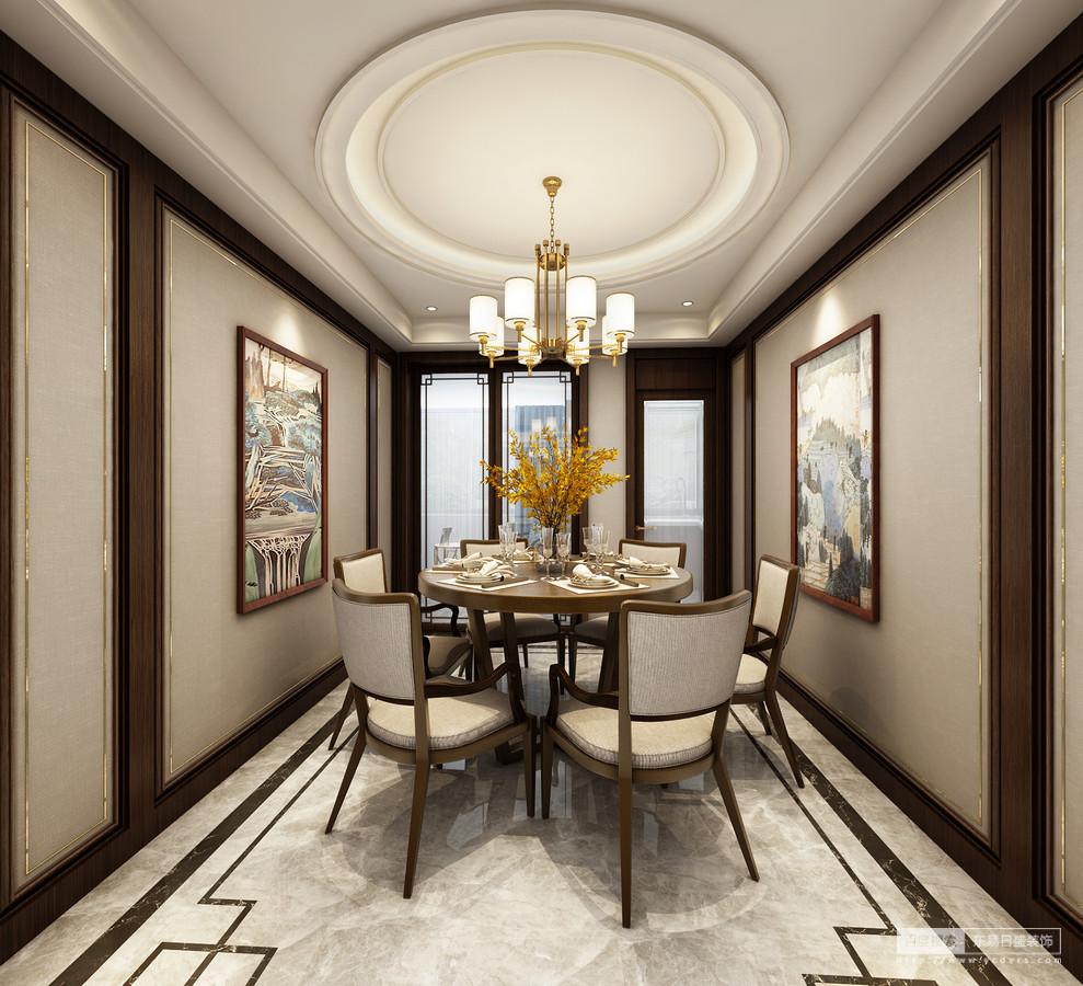 餐厅 在餐厅软装物品的选配上,设计师倾向于深色的木质家具,以色彩的深沉体现中式传统文化的厚重,以木质的温润彰显历史的可亲。