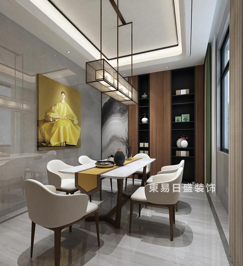 桂林金地•熙园别墅500㎡现代风格:餐厅装修设计效果图
