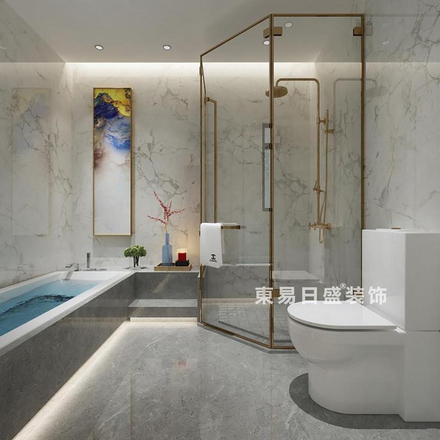 桂林金地•熙园别墅500㎡现代风格:主卫生间装修设计效果图