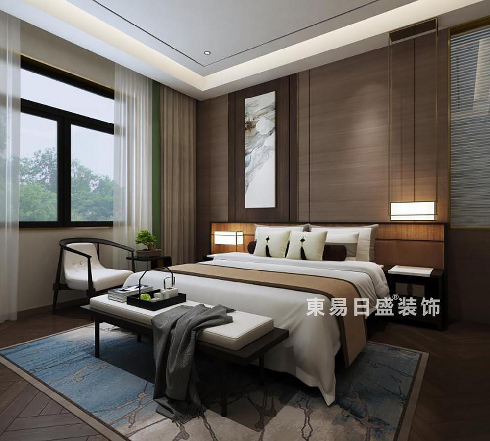 桂林金地•熙园别墅500㎡现代风格:主卧室装修设计效果图