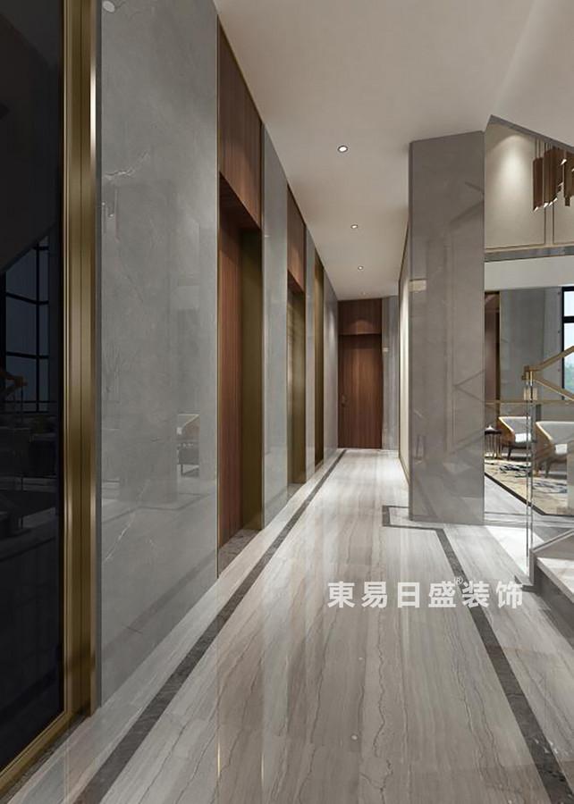 桂林金地?熙園別墅500㎡現代風格:走廊裝修設計效果圖