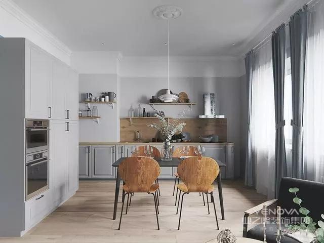 客厅、餐厅、厨房一体化空间设计