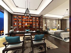 中式風格臥室裝修效果圖