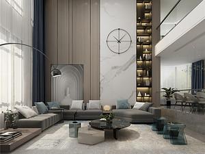 幸福里-獨棟別墅550平米-簡約輕奢風格案例