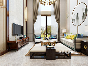 桂林復式樓220㎡新中式裝修風格