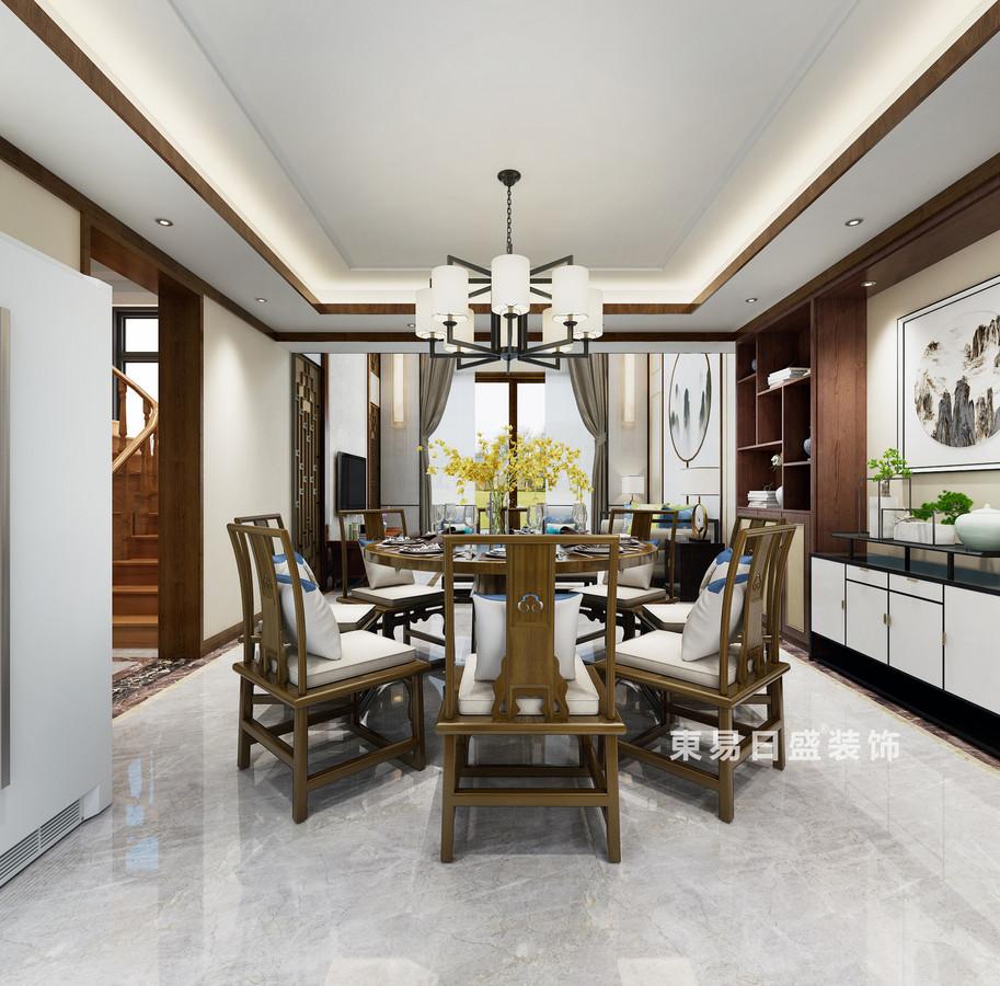 桂林复式楼220㎡新中式风格:餐厅装修设计效果图