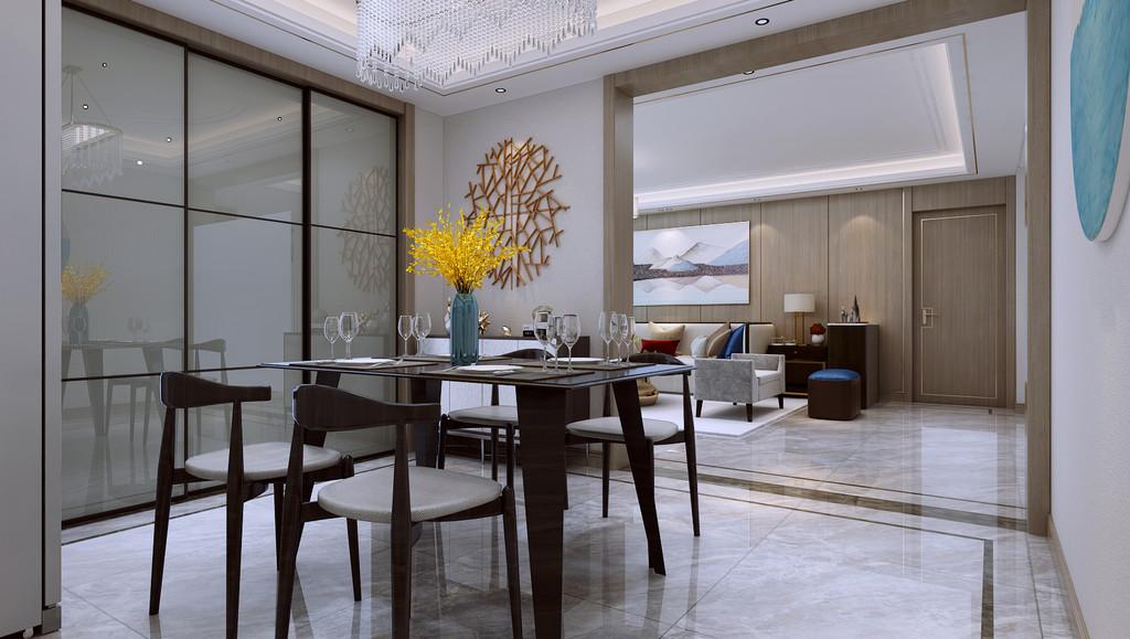 运用大理石,进口硬包,进口壁画,壁布等材质凸显品质,设计形式以轻奢方式比如线条