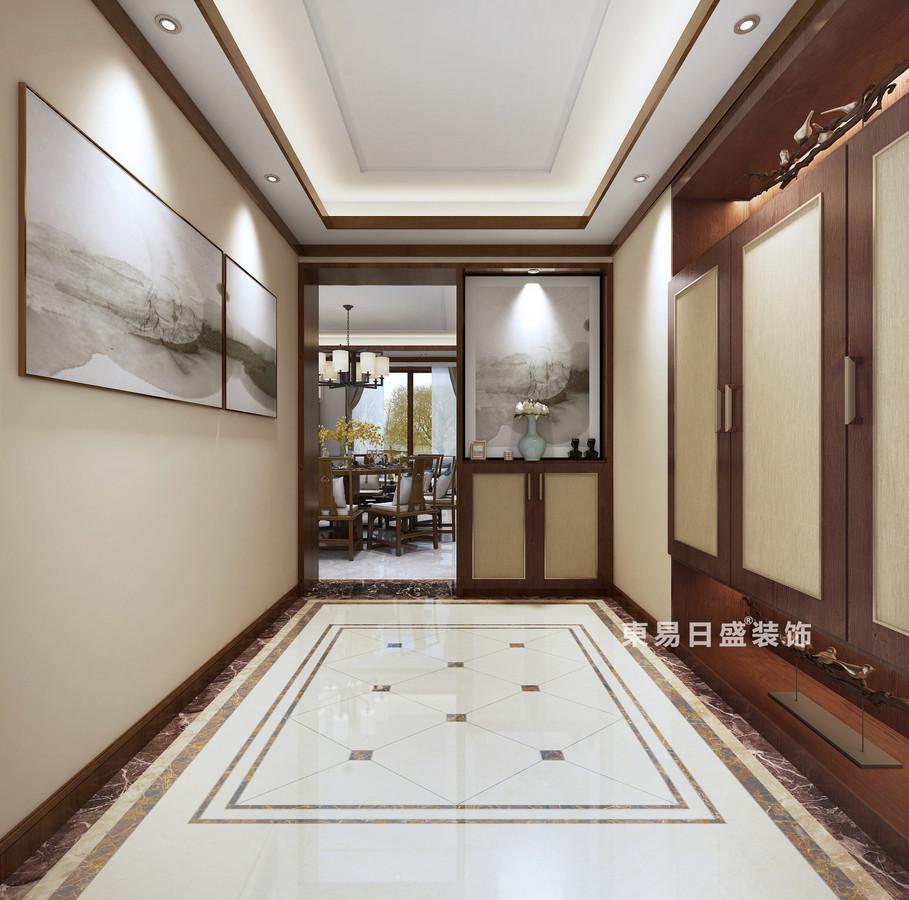 桂林復式樓220㎡新中式風格:門廳裝修設計效果圖