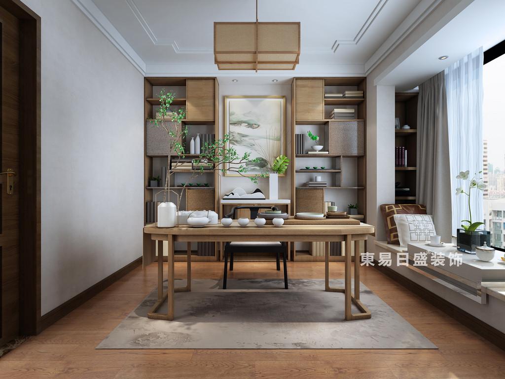 桂林復式樓220㎡新中式風格:書房裝修設計效果圖