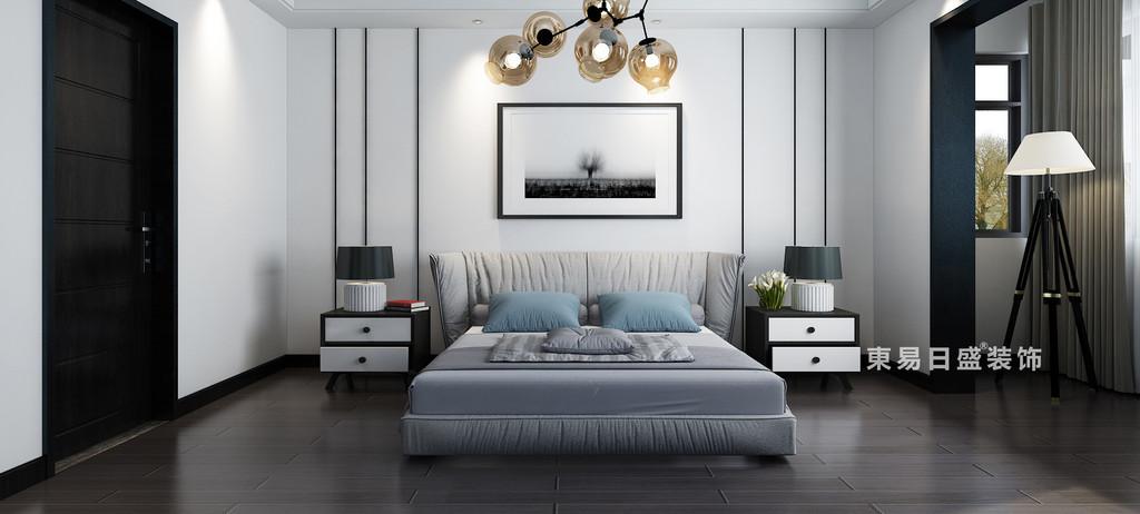 桂林自建別墅518㎡美式風格:客臥室裝修設計效果圖