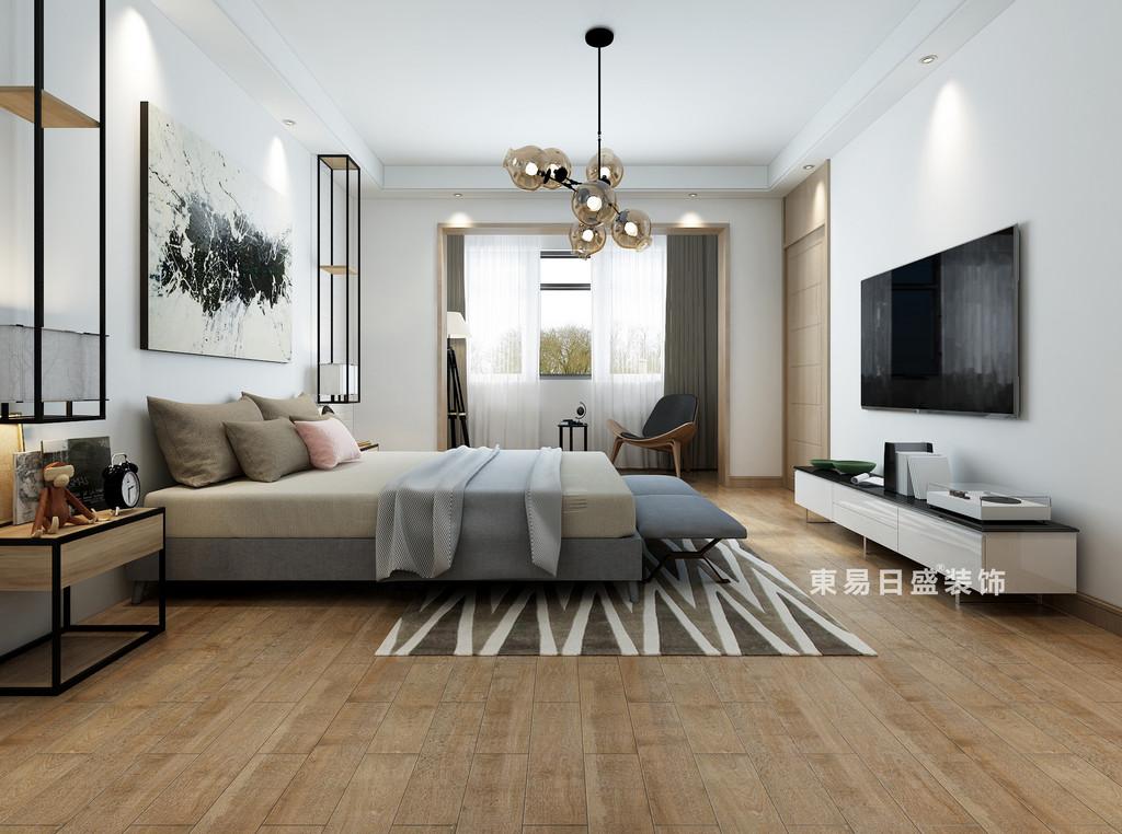 桂林自建別墅518㎡美式風格:臥室裝修設計效果圖