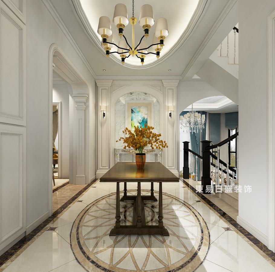 桂林自建別墅518㎡美式風格:門廳裝修設計效果圖