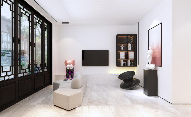临沂东易日盛装饰新中式风格-会客厅