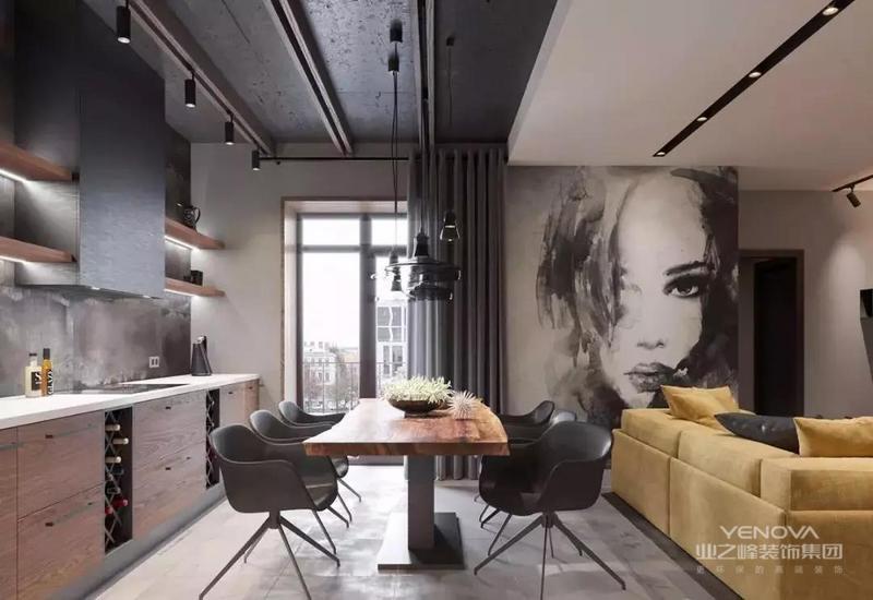 以灰色调为基色,搭配木色的家具和简约、时尚款的软装,让这个家充满了格调感,不管是客餐厅还是卧室,都让人情不自禁的爱上它。