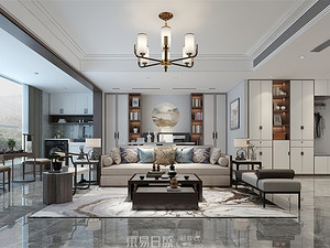 宝信龙港-170平米三居室-新中式风格案例赏析