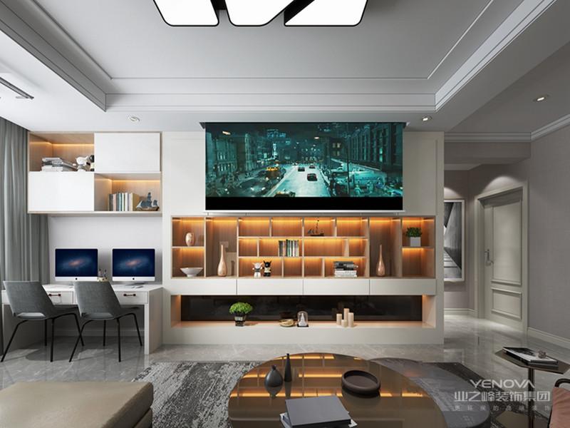 现代轻奢侈风格虽然也是一种现代风格,但不同于传统的现代风格,现代轻奢侈与色彩的运用形成了鲜明的对比。