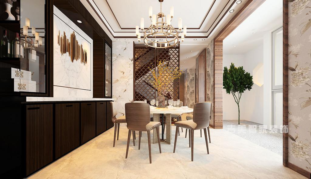 在中国文化风靡全球的现今时代,中式元素与现代材质的巧妙兼柔,明清家具、窗棂、布艺床品相互辉映,再现了移步变景的精妙小品。