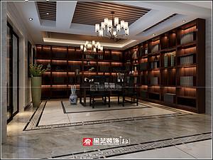 新中式风格书房贝博官网登录效果图