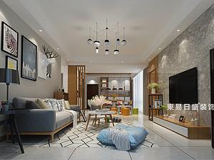 桂林醫專家屬樓四居室120㎡現代裝修風格