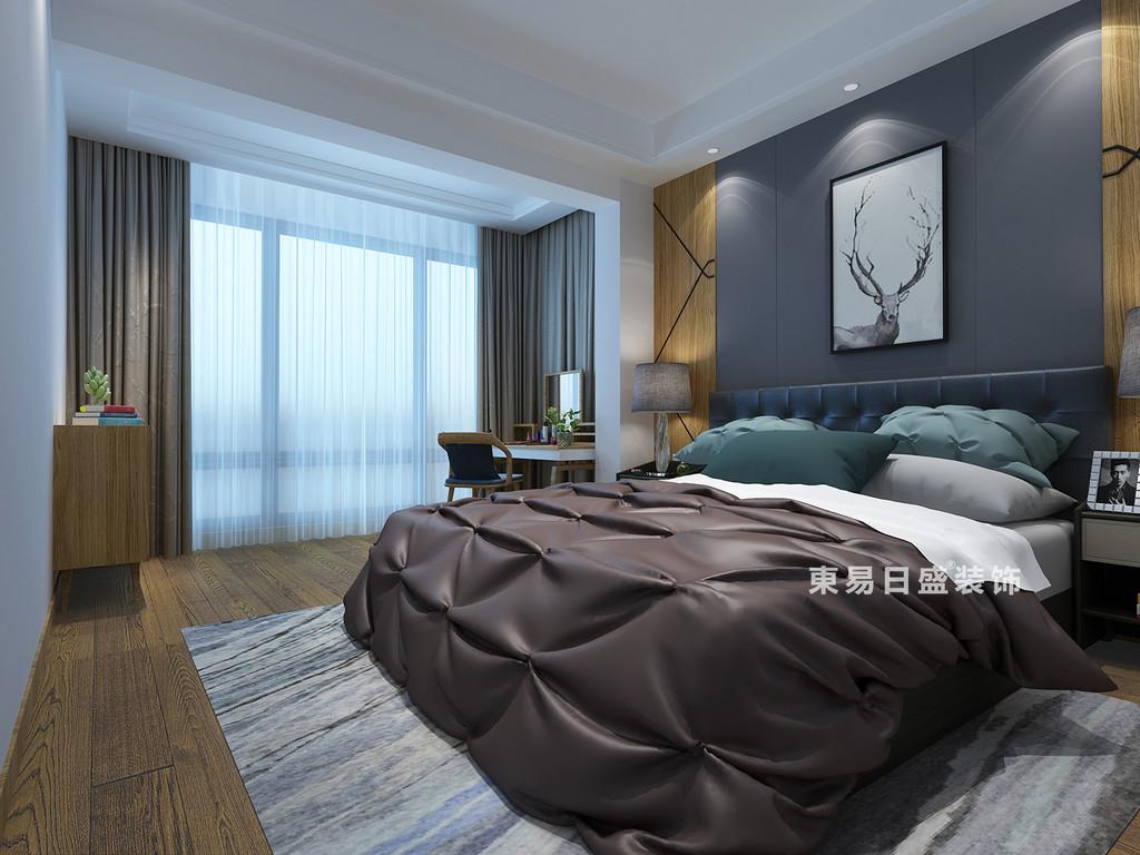 桂林医专家属楼四居室120㎡现代风格:主卧室装修设计效果图
