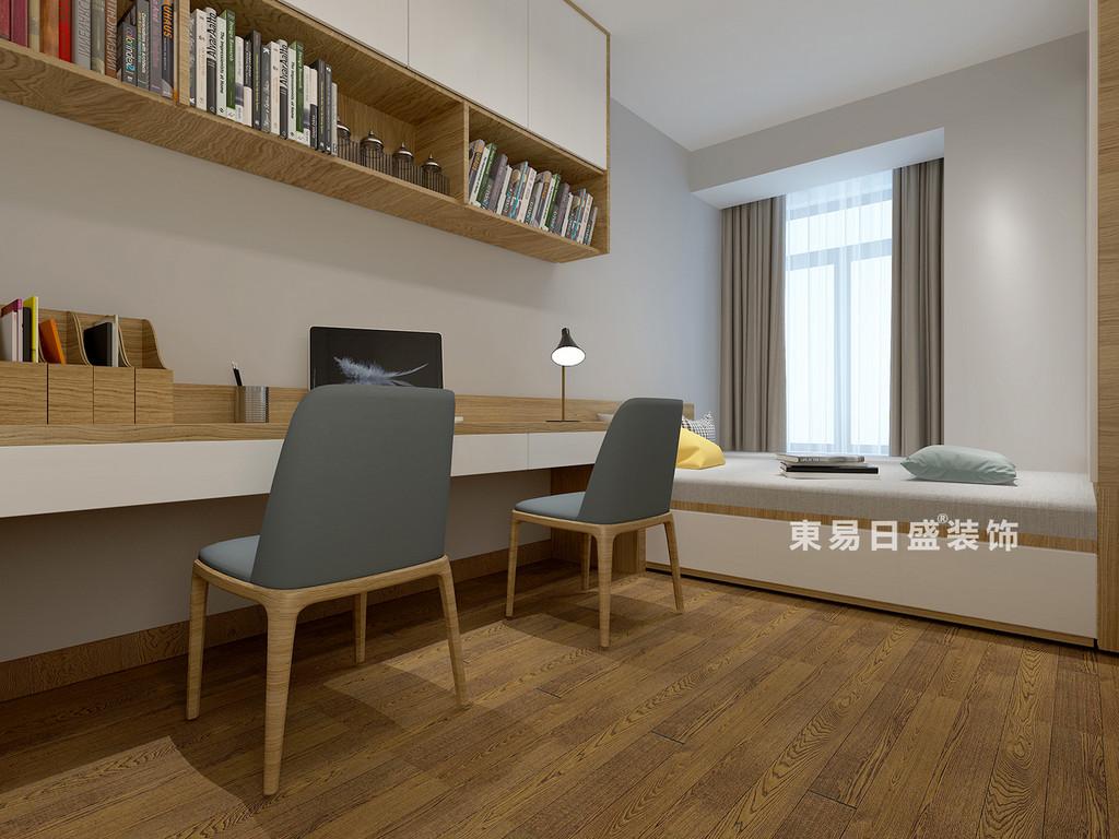 桂林医专家属楼四居室120㎡现代风格:次卧室装修设计效果图