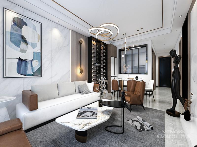 现代轻奢风格注重高品质与设计感,将优雅时尚的质感结合着现代材质及装饰技巧巧妙地呈现在居室中,展示着精致高端的生活态度。或简约大方,或繁复含蓄,或个性鲜明,或艺术方雅,现代轻奢风格的设计有着千万种打造方法,花样繁多的设计更是为居室带来无穷尽的时尚风华。