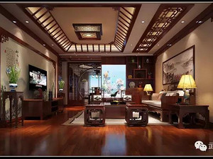 中式风格客厅西甲买球盘口效果图