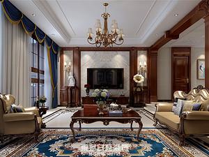 愛倫坡-380平米復式-古典美式風格大宅設計案例