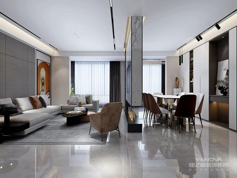 由于户型和面积的限制,现在的房子设计格局的时候一般都是开放性的。进门就能看到玄关、客厅、餐厅的全貌。