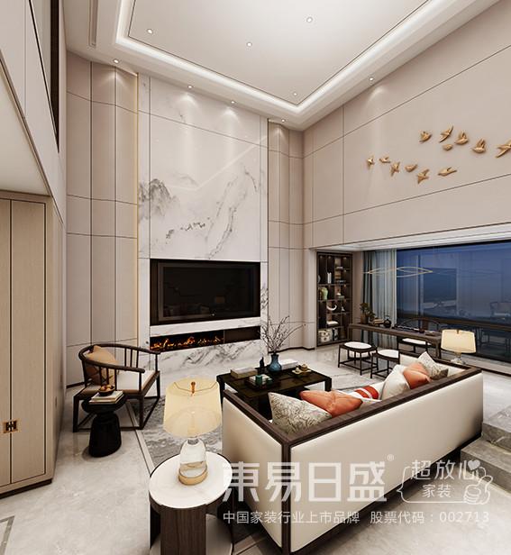新中式风格的特点是将现代元素与传统元素相互结合的形式而产生的,同时以现代人的观点来体现出与传统中国风格不一样的设计。