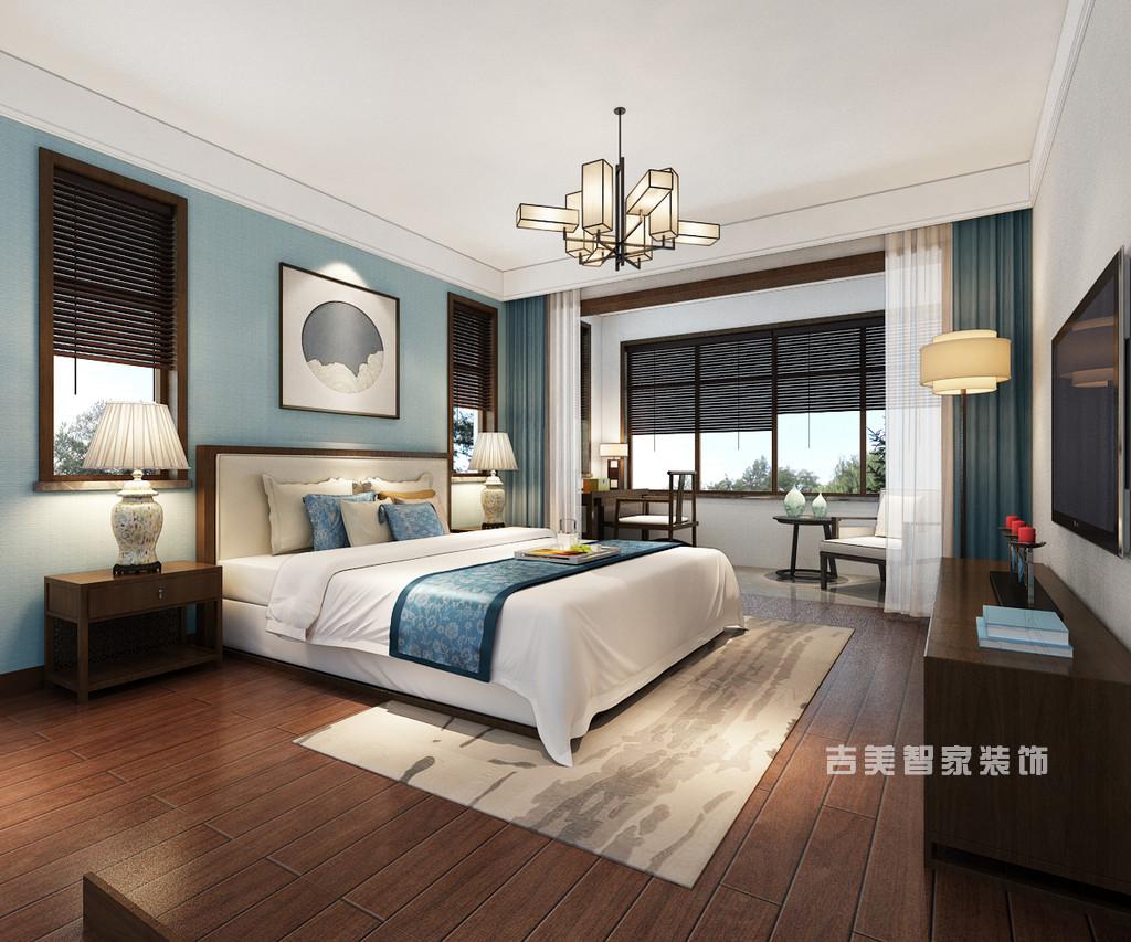 泰安桃花源-新中式-卧室