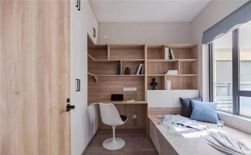 多功能房是一个相对灵活多变的房间,现是屋主的书房兼客卧,以后可变动为儿童房。