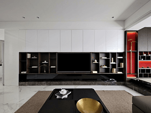 新中式風格客廳裝修效果圖