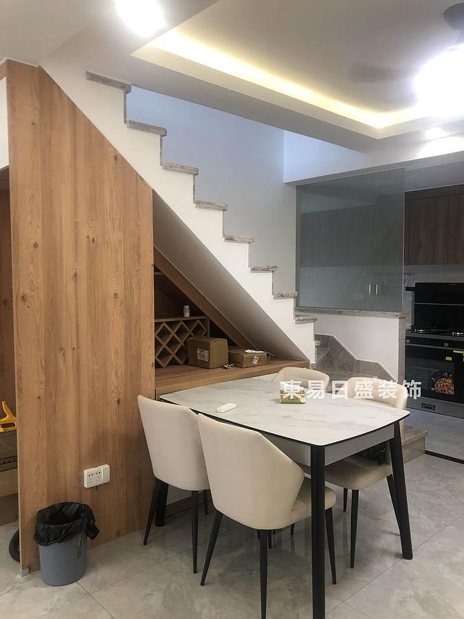 桂林悠山郡顶层复式楼180㎡现代北欧风格:餐厅装修设计实景图