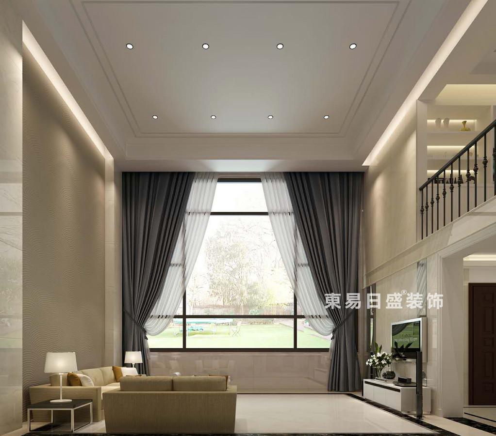 桂林空院别墅500㎡现代简约风格:客厅装修设计效果图