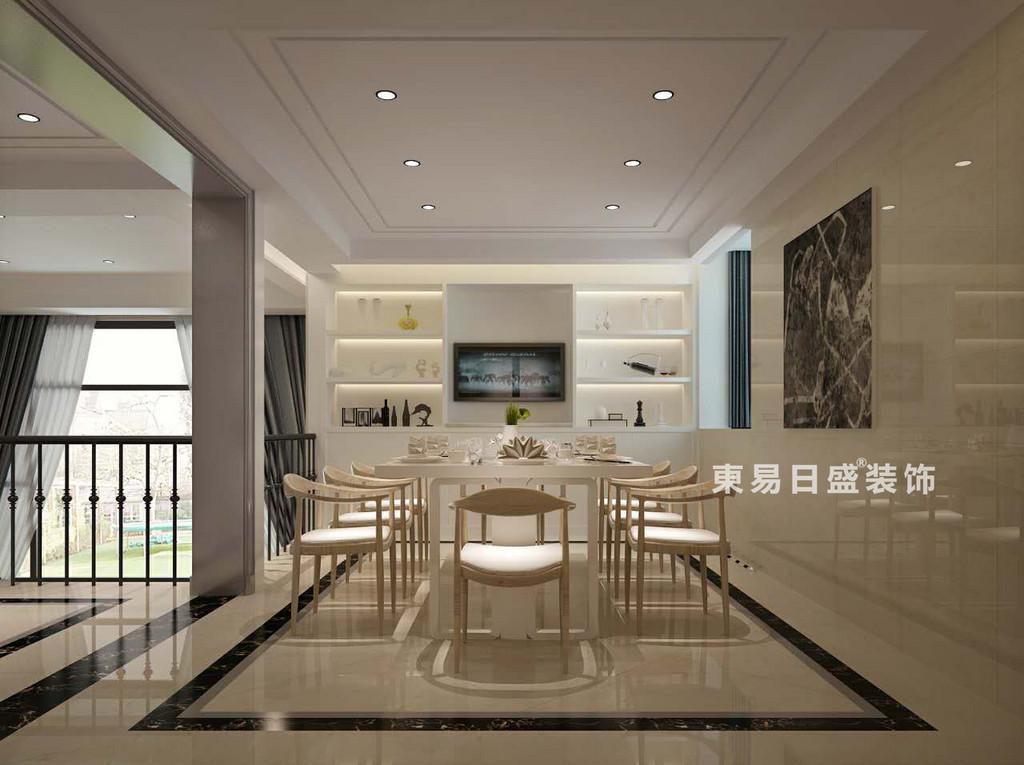 桂林空院别墅500㎡现代简约风格:餐厅装修设计效果图