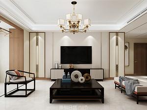 龍庭帝景-140平米三居室-新中式風格案例賞析