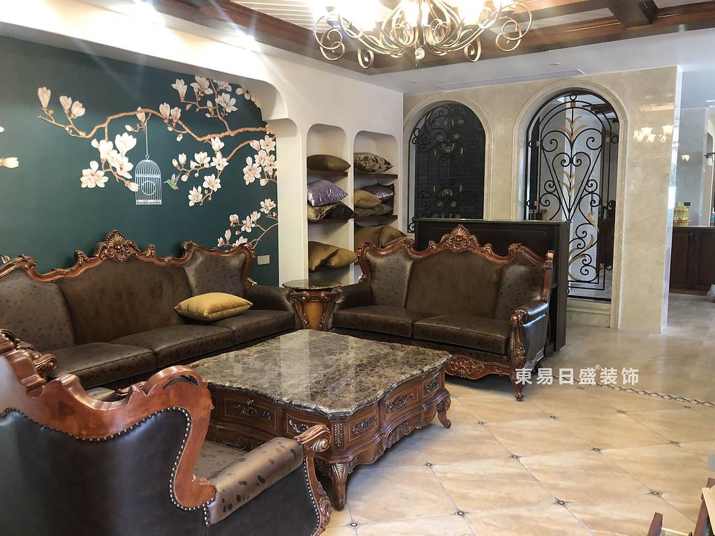 桂林信和信•原乡墅别墅500㎡美式乡村风格:客厅装修设计实景图
