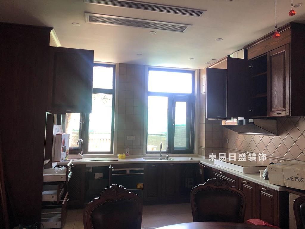 桂林信和信•原乡墅别墅500㎡美式乡村风格:厨房装修设计实景图