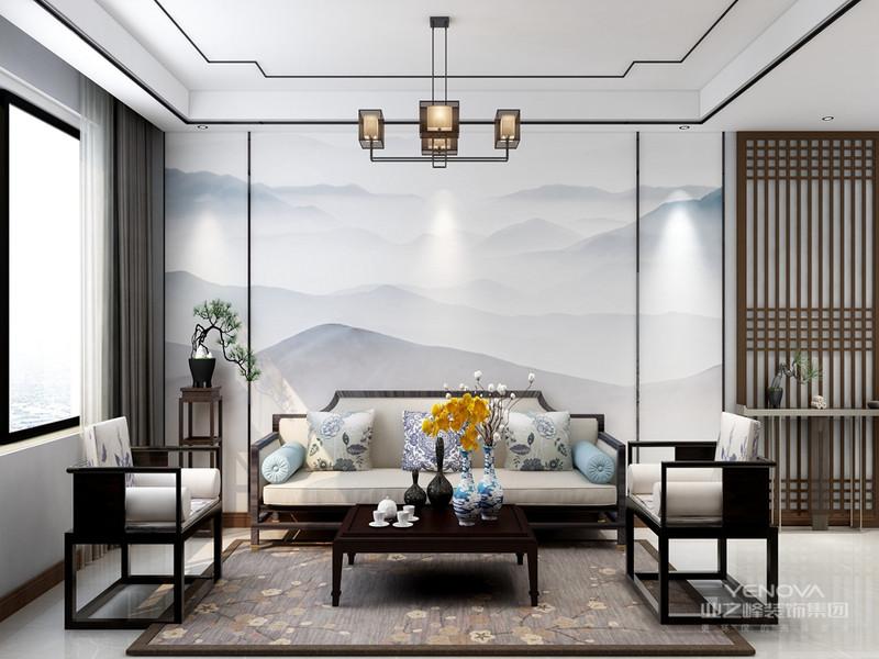 与传统的装修风格相比,新中式风格设计是提出了原有的繁琐、复杂的设计元素,采用留白的设计来营造出空间中的个性与宁静,