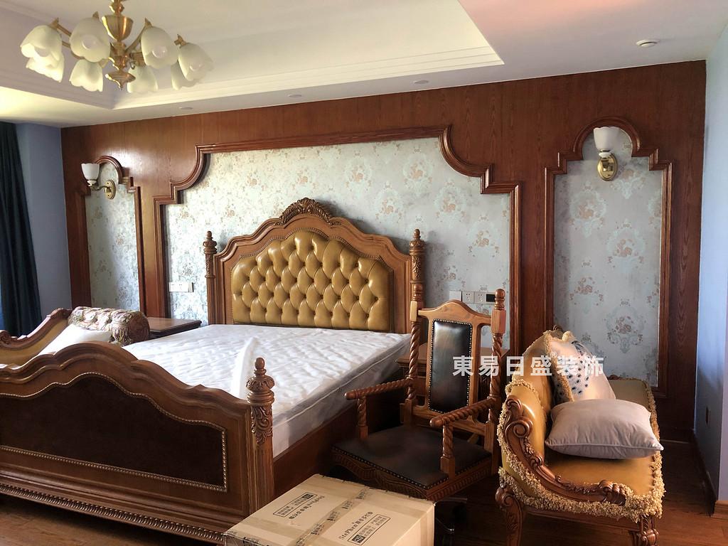 桂林信和信•原乡墅别墅500㎡美式乡村风格:主卧室装修设计实景图
