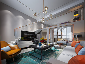 银泰公寓-75㎡-现代轻奢风格