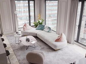 荔枝公寓-120㎡-混搭风格