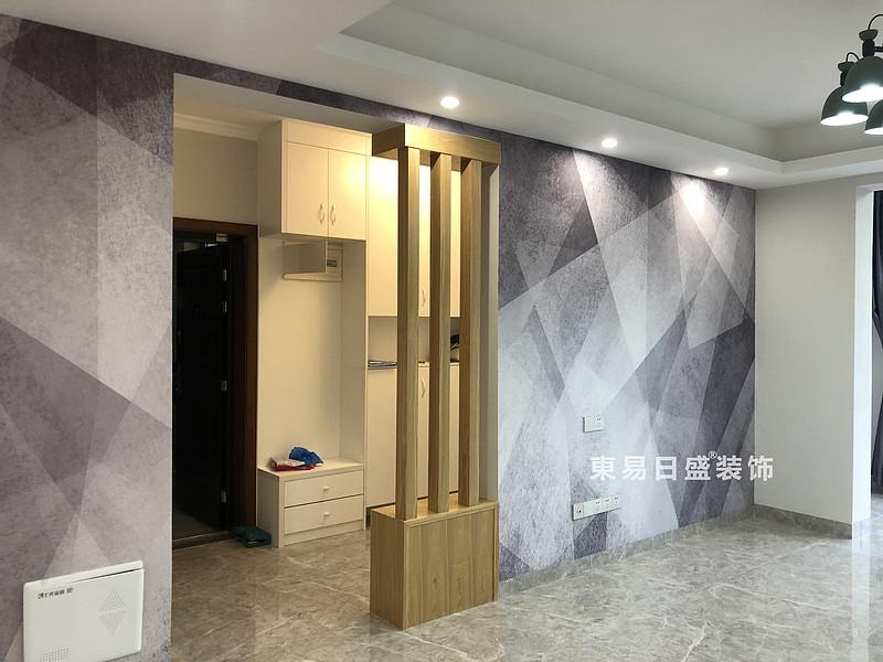 碧園印象桂林二居室100㎡現代風格:客廳裝修設計實景圖