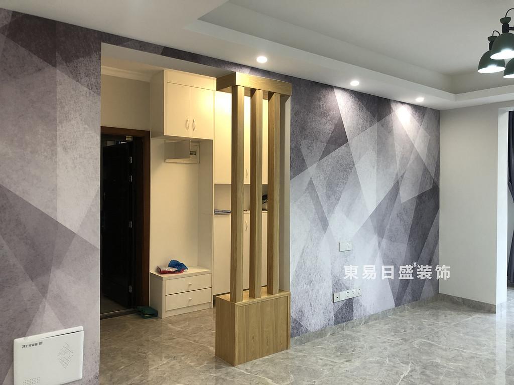 碧园印象桂林二居室100㎡现代风格:客厅装修设计实景图