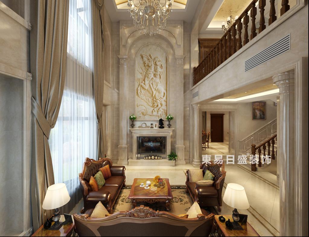 桂林华生•御景湾别墅600㎡欧式风格:客厅装修设计效果图