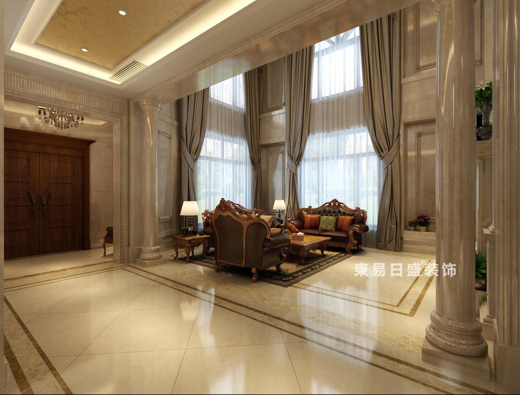桂林华生•御景湾别墅600㎡欧式风格:客厅过道装修设计效果图
