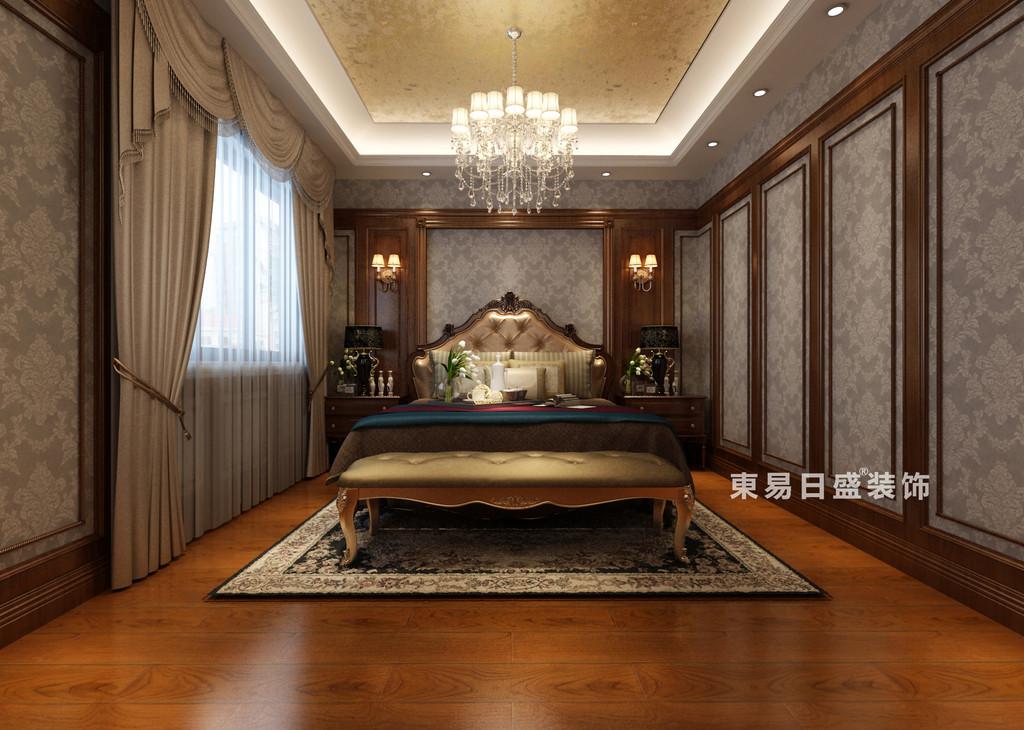 桂林华生•御景湾别墅600㎡欧式风格:主卧室装修设计效果图