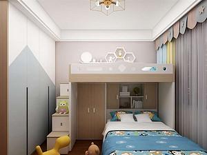 新中式风格儿童房装修效果图