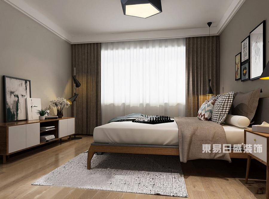 桂林冠泰?城國二居室145㎡簡約風格:臥室裝修設計風格